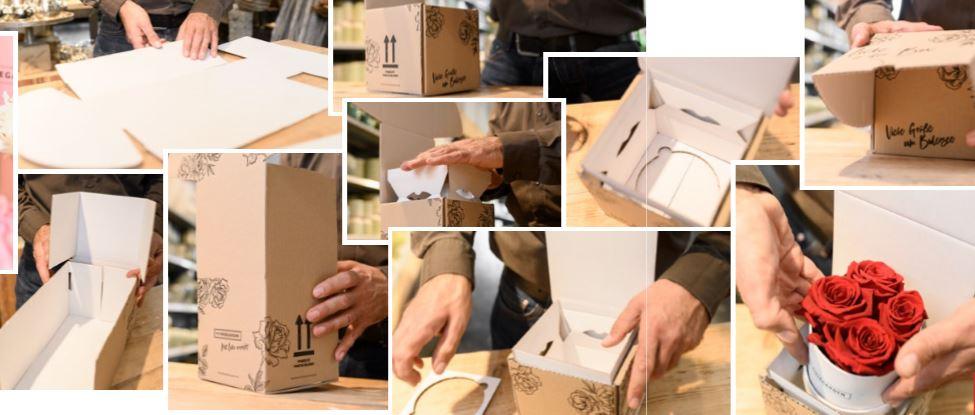 Rosenboxen sicher verpacken und versenden: Unvergängliche Pracht mit Deckel
