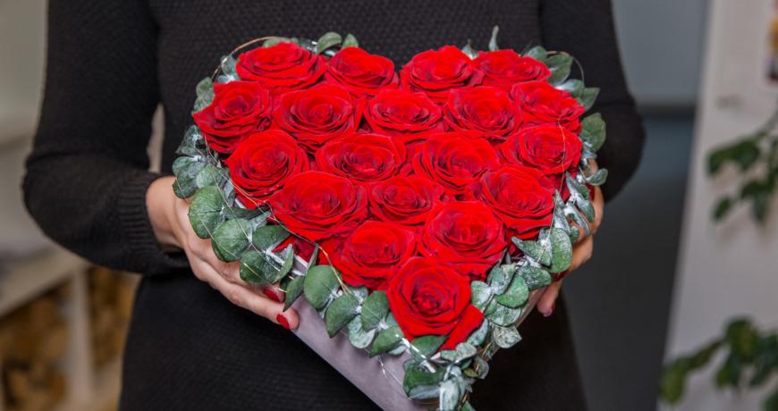 Rosenherz zum Valentinstag